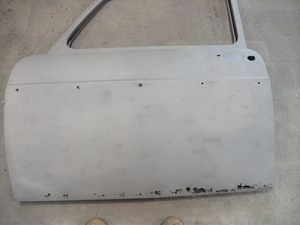 a car door after abrasive blasting in Brisbane